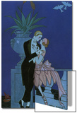 By the Railing, 1921 Prints by Georges Barbier