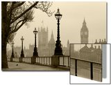 Big Ben And Houses Of Parliament, London In Fog Posters by  tombaky