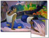 Pleasures of the Evil Spirit, (Arearea No Vareua Ino), 1894 Poster by Paul Gauguin