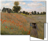 Poppy Field at Argenteuil, c.1873 Posters by Claude Monet