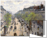 Boulevard Montmartre, Spring, 1897 Print by Camille Pissarro