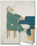 Johannes Brahms at the Piano Print by Willy von Beckerath