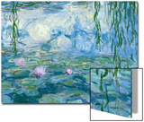 Waterlilies, 1916-19 (Detail) Posters by Claude Monet