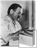 Ernest Hemingway Typewriting Posters