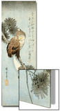 The Crescent Moon and Owl Perched on Pine Branches Posters by Ando Hiroshige