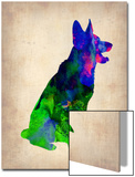 German Sheppard Watercolor Poster by  NaxArt