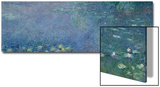 Left Centre Piece of the Large Water Lily Painting in the Musee De L'Orangerie Prints by Claude Monet