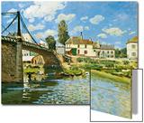 Bridge at Villeneuve-La-Garenne, 1872 Prints by Alfred Sisley