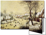 Winter Landscape with Skaters and a Bird Trap, 1565 Poster by Pieter Bruegel the Elder