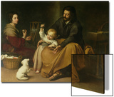 The Holy Family with the Little Bird, circa 1650 Prints by Bartolome Esteban Murillo