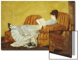 Young Lady Reading Art by Mary Cassatt