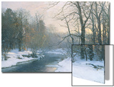 The Woods in Silver and Gold Poster by Anders Andersen-Lundby