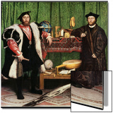 The Ambassadors, 1533 Art by Hans Holbein the Younger