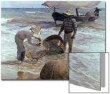 Fishermen From Valencia, 1895, Spanish School Print by Joaquín Sorolla y Bastida