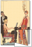 Woman Playing Piano, 1922 Prints by Georges Barbier