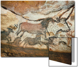 Cave of Lascaux, Great Hall, Left Wall: First Bull, Red Horse, Brown Horses, C. 17,000 BC Art