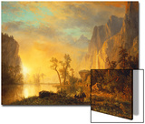 Sunset in the Rockies Posters by Albert Bierstadt