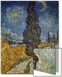 Country Road with Cypress and Star, 1890 Prints by Vincent van Gogh