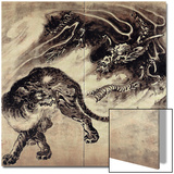 Dragon and Tiger Prints by Kyosai Kawanabe