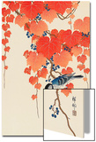 Bird and Red Ivy Prints by Koson Ohara