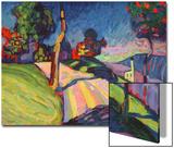 Autumn Landscape, Murnau, 1908 Láminas por Wassily Kandinsky