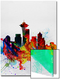 Seattle Watercolor Skyline 2 Posters by  NaxArt