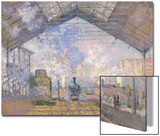 The Gare St. Lazare, 1877 Art by Claude Monet