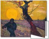 The Sower at Sunset, 1888 Poster von Vincent van Gogh