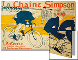 The Simpson Chain; La Chaine Simpson, 1896 Poster by Henri de Toulouse-Lautrec