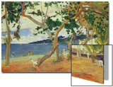 By the Seashore, Martinique, 1887 Posters by Paul Gauguin