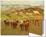 Jockeys on Horseback before Distant Hills, 1884 Posters by Edgar Degas