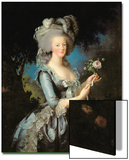 Marie Antoinette (1755-93) with a Rose, 1783 Poster by Elisabeth Louise Vigee-LeBrun