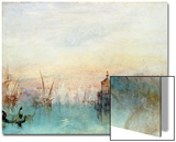 Venice with a First Crescent Moon Poster by J. M. W. Turner