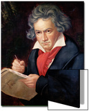 "Ludwig Van Beethoven (1770-1827) Composing His ""Missa Solemnis"" Poster by Joseph Karl Stieler"