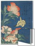 Peonies and Canary, C. 1833 Posters by Katsushika Hokusai