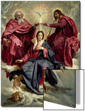 Coronation of the Virgin, circa 1641-42 Poster von Diego Velázquez
