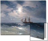Sailing ship in the moonlight on a calm sea, 1874 Prints by Ivan Konstantinovich Aivazovsky