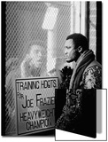 Boxer Muhammad Ali Taunting Boxer Joe Frazier During Training for Their Fight Posters by John Shearer