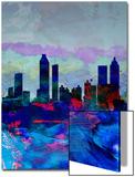 Atlanta Watercolor Skyline Art by  NaxArt