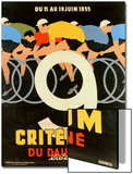 Advertisement for the 9th 'Criterium Du Dauphine Libere' Cycling Race of 1955 Posters