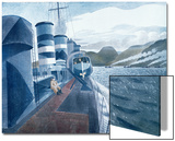 Leaving Scapa Flow Art by Eric Ravilious