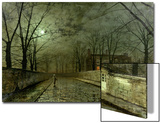 Silver Moonlight, 1880 Prints by John Atkinson Grimshaw