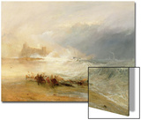 Wreckers - Coast of Northumberland, with a Steam Boat Assisting a Ship Off Shore, 1834 Print by J. M. W. Turner