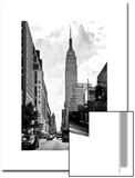 Urban Scene, Yellow Cab, Empire State Buildings and Macy's Views, Midtown Manhattan, NYC Posters by Philippe Hugonnard