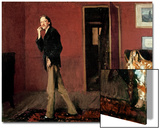 Robert Louis Stevenson and His Wife, 1885 Posters by John Singer Sargent