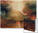 Mount Vesuvius in Eruption, 1817 (W/C on Paper) Posters by J. M. W. Turner