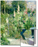 Roses Tremieres (Hollyhocks), 1884 Prints by Berthe Morisot