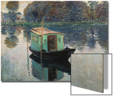 Monet's Studio-Boat, 1874 Posters by Claude Monet