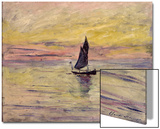 The Sailing Boat, Evening Effect, 1885 Prints by Claude Monet