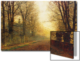 The Autumn's Golden Glory Prints by John Atkinson Grimshaw